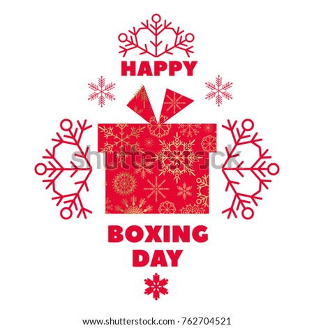 Boxing Day. Template poster, banner, greeting card. Vector illustration.
