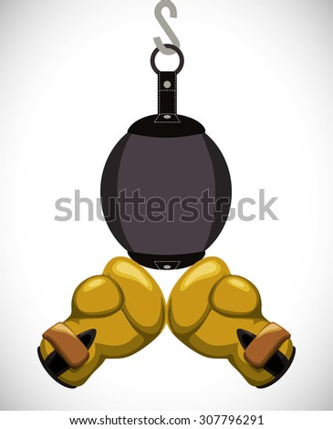 Boxing digital design, vector illustration 10 eps graphic - stock vector