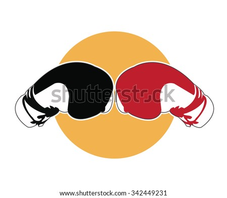 Boxing gloves icon - stock vector