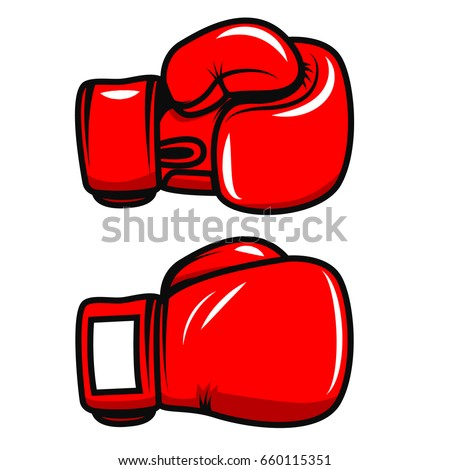 boxing gloves isolated on white background stock vector hd royalty rh shutterstock com boxing gloves vector art free boxing glove vector png