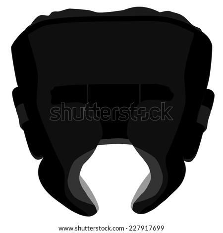 Boxing helmet, boxing helmet vector, black boxing helmet, boxing helmet isolated - stock vector