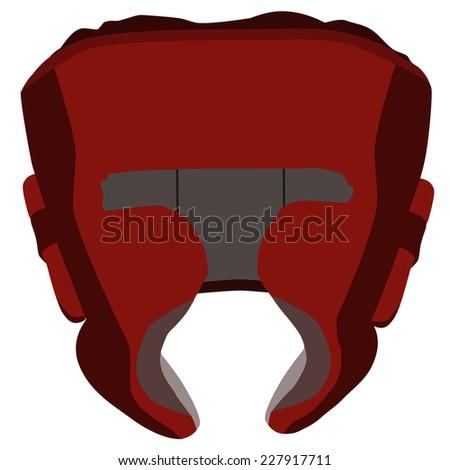 Boxing helmet, boxing helmet vector, red boxing helmet, boxing helmet isolated - stock vector