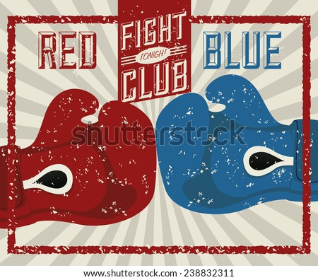 boxing label design, vector illustration eps10 graphic  - stock vector