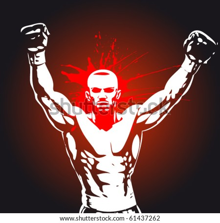boxing poster - stock vector