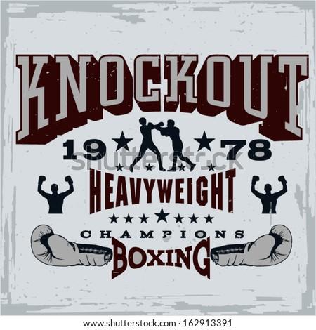 Boxing Print Vector - stock vector