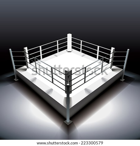 Boxing ring - stock vector