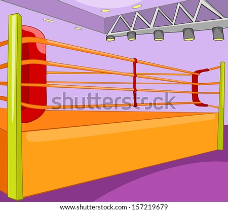 Boxing Ring. Cartoon Background. Vector Illustration EPS 10. - stock vector