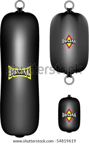 Boxing sand-bags - stock vector