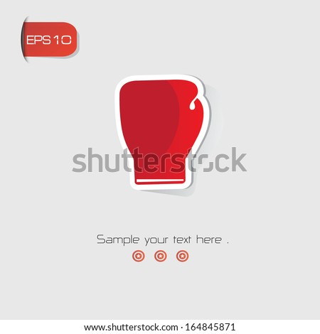 Boxing symbol,Red version,vector - stock vector