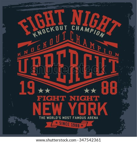 Boxing - Varsity - College vector, Vector Graphics and typography t-shirt design for apparel - stock vector
