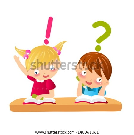 boy and girl,student - stock vector