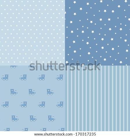 Boy background - stock vector