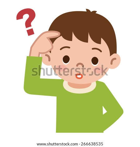 Boy believes - stock vector