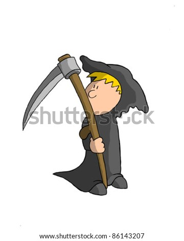 Boy In Death Costume (Vector)