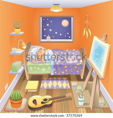 cartoon bedroom | memsaheb.net
