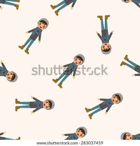 boy man cartoon ,seamless pattern