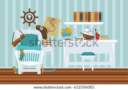 Kids Bedroom Door kids bedroom door stock vectors, images & vector art | shutterstock