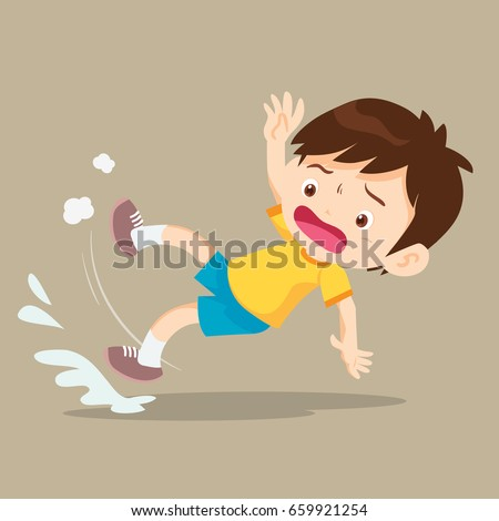 Boy Slip Falling On Wet Floor 659921254 on cartoon person falling down