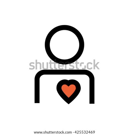 Boy, valentine's day line icon. Pixel perfect fully editable vector icon suitable for websites, info graphics and print media. - stock vector