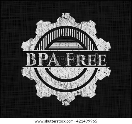 BPA Free written with chalkboard texture