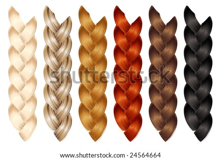 Braid, vector illustration, EPS file included - stock vector