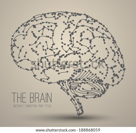 Brain abstract . Can use for business concept, printing object, web design, brochure element. - stock vector
