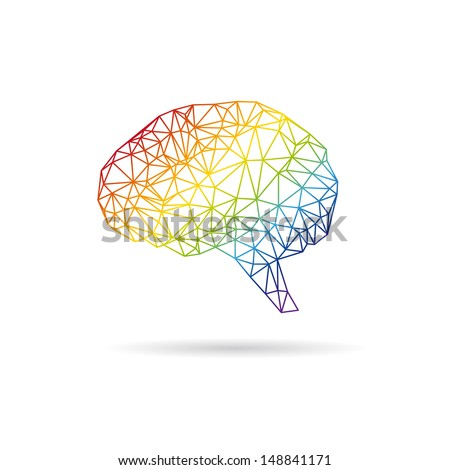 Brain abstract isolated on a white backgrounds. Vector illustration - stock vector
