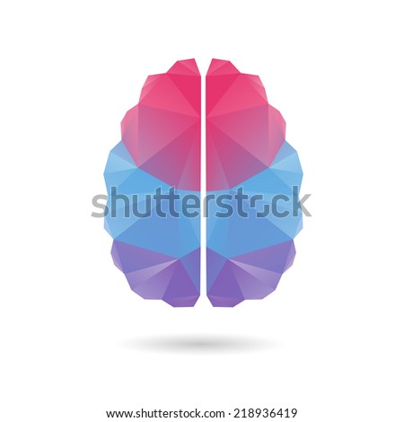 Brain abstract isolated on a white backgrounds, vector illustration - stock vector