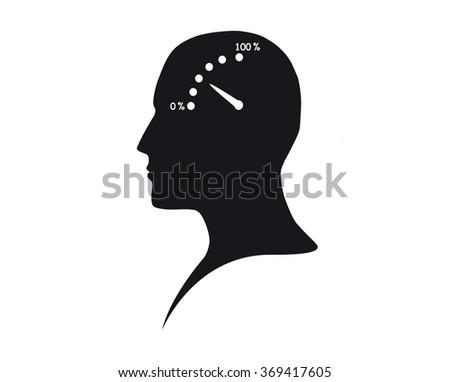 Brain activity - stock vector