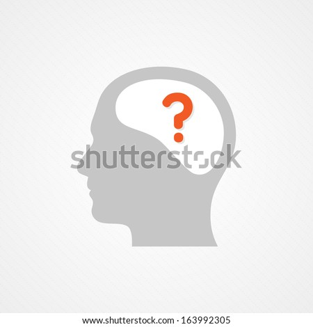 Brain and question - stock vector