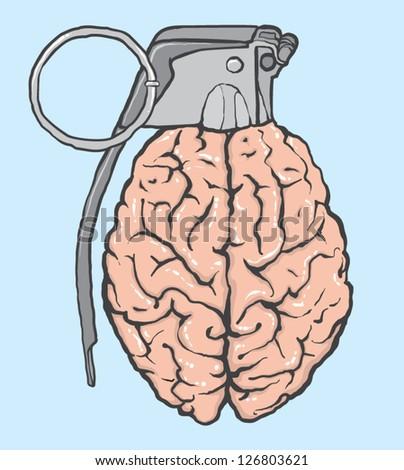 brain bomb - stock vector