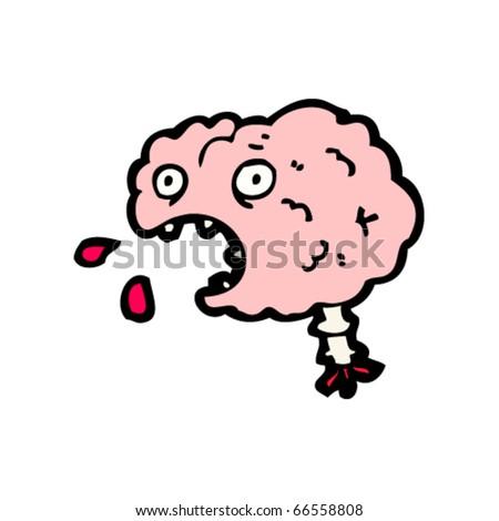 brain cartoon - stock vector
