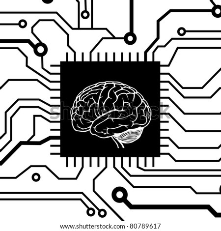 brain circuit background