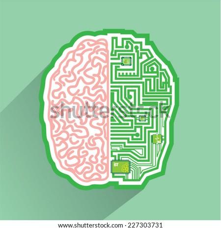 Brain Circuit vector - stock vector