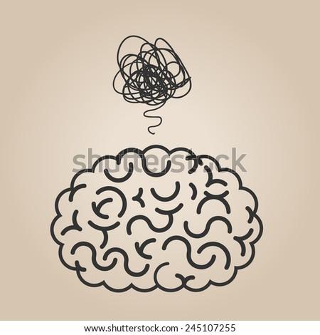 Brain concept illustration - stock vector