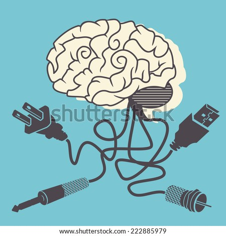 Brain connectivity, vector illustration. - stock vector