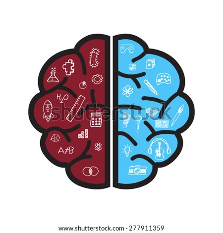 Brain creative - stock vector