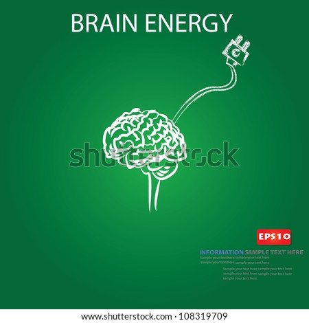 Brain energy,Vector - stock vector