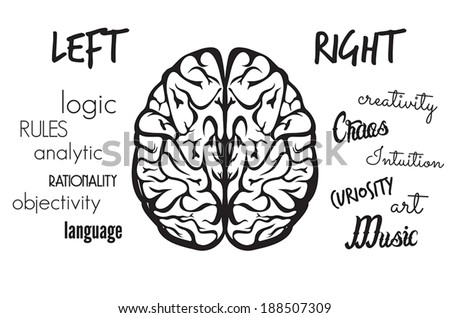 Brain function - stock vector