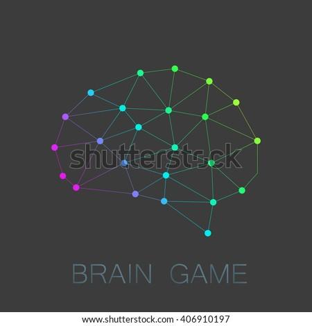 Brain game logo illustration brain polygon stock vector royalty brain game logo illustration brain polygon design modern vector low poly design ccuart Image collections