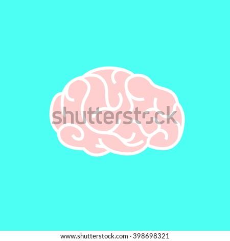 brain icon - stock vector