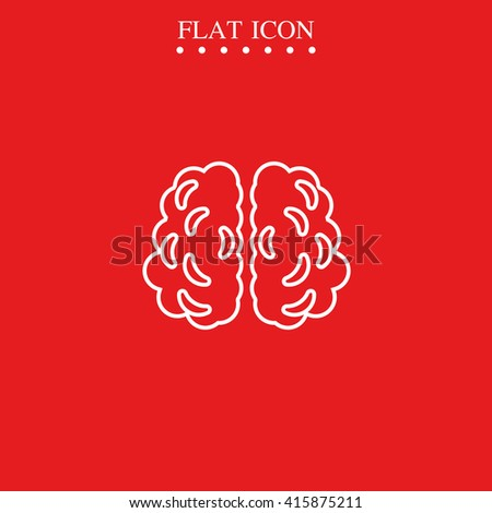Brain icon. - stock vector