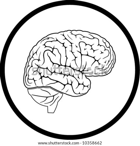 brain icon. Black and white. In my portfolio there is version 4 in 1.