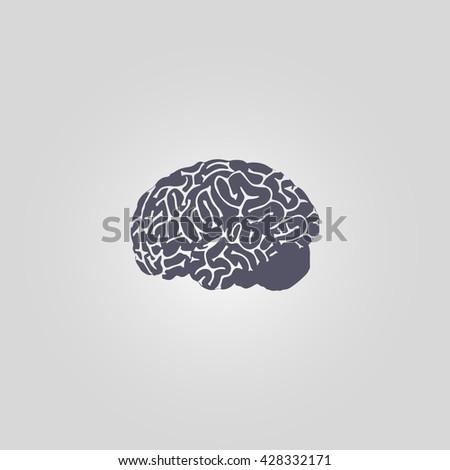 brain icon. brain vector. brain sign - stock vector