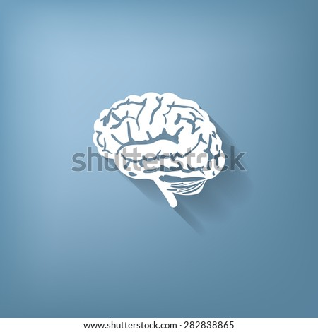 Brain icon. Mind and science - stock vector