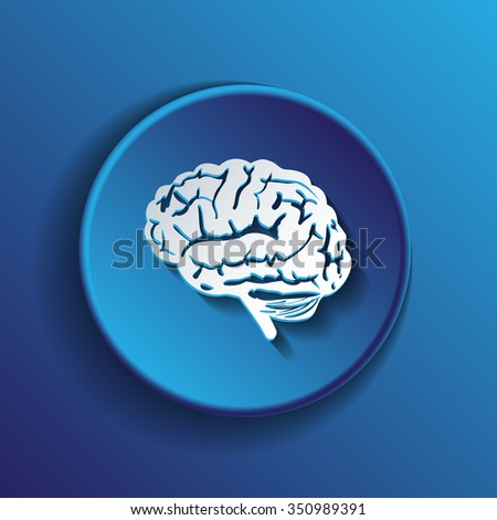 Brain icon. Mind and science