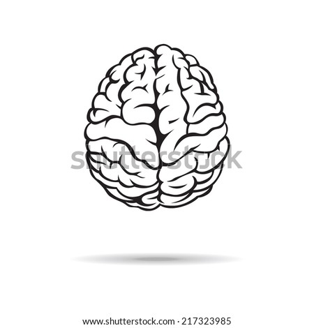 Brain icon. On the white background. Vector illustration - stock vector