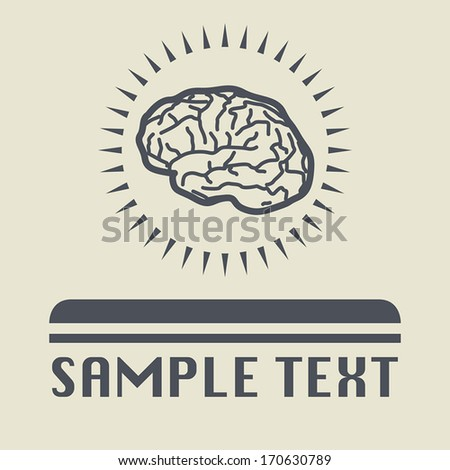 Brain icon or sign, vector illustration - stock vector