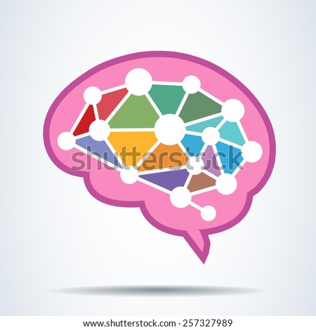 brain Idea concept .vector illustration  - stock vector