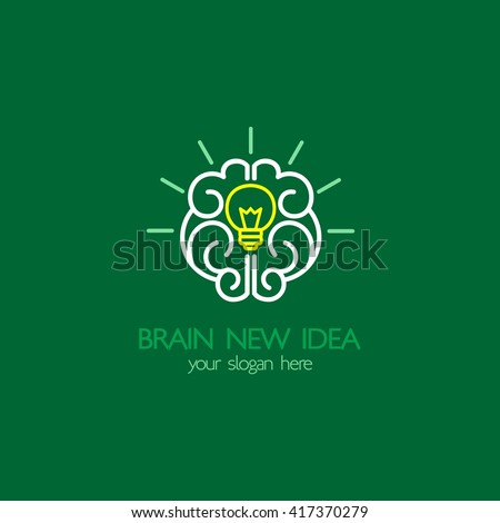 Idea Design big idea design over white background vector illustration Brain Idea Design Badges Symbol Concept And Logo